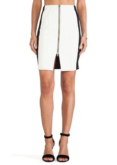 T-Bags LosAngeles Zipper Detail Mini Skirt