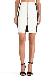 T-Bags LosAngeles Zipper Detail Mini Skirt in White