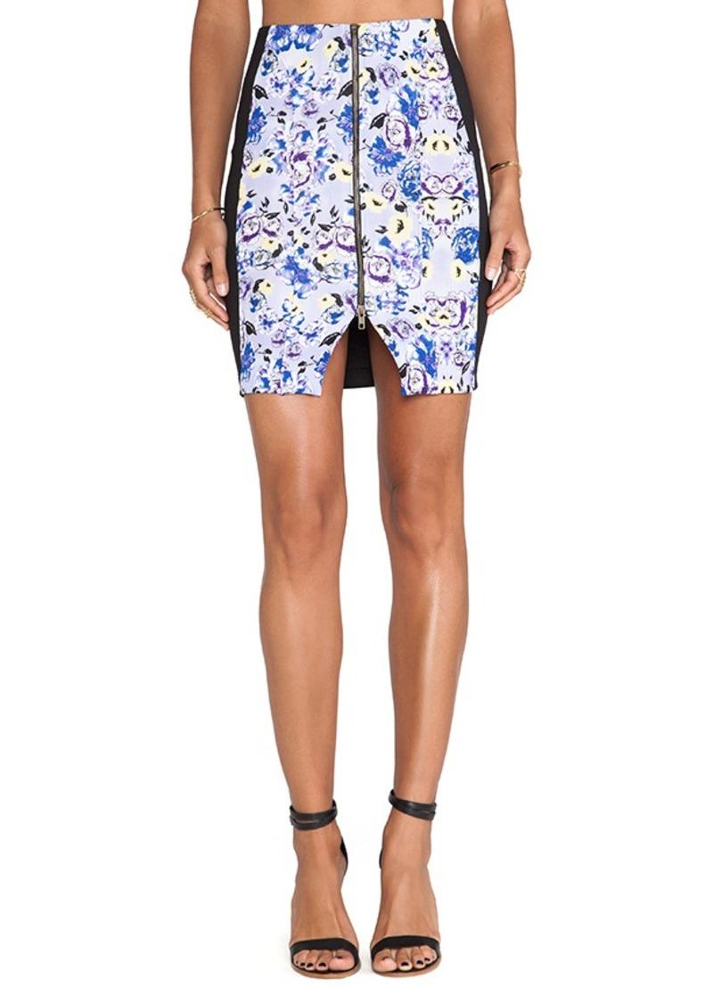 T-Bags LosAngeles Zipper Front Mini Skirt in Black
