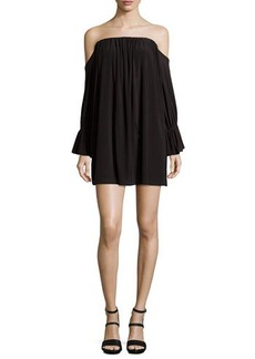 T Bags Off-the-Shoulder Jersey Dress, Black
