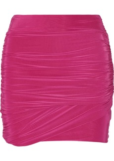 T-Bags Ruched stretch-jersey mini skirt