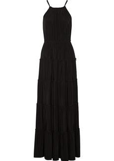 T-Bags Satin-jersey maxi dress
