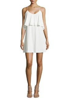 T-Bags Sleeveless Ruffle Dress, White