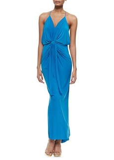 T Bags Sleeveless V-Neck Maxi Dress
