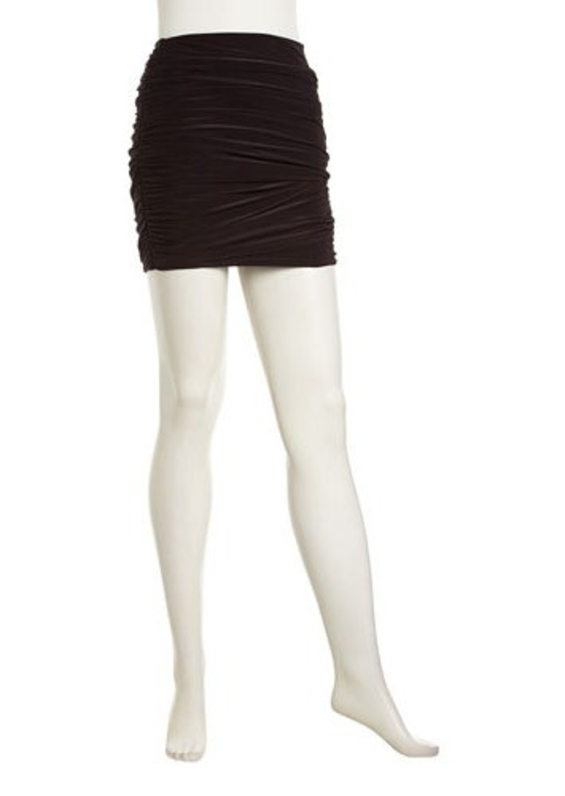 T Bags Solid Ruched Miniskirt
