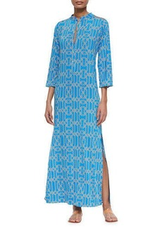 T Bags Three-Quarter-Sleeve Maxi Dress