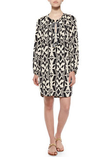T Bags Tribal-Print Shift Shirtdress