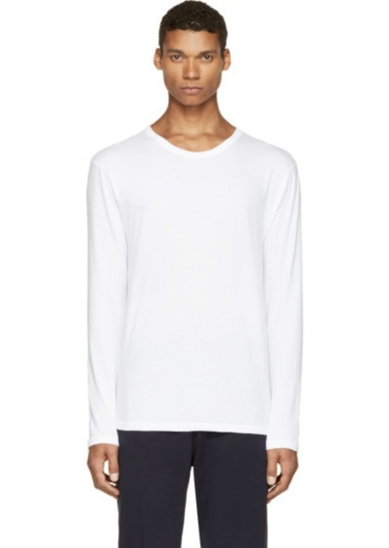 t by alexander wang t by alexander wang white pima cotton long sleeve t shirt t shirts shop. Black Bedroom Furniture Sets. Home Design Ideas
