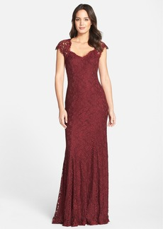 Tadashi 'Auburn' Corded Lace Gown (Regular & Petite)