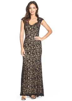 Tadashi 'Auburn' Corded Lace Gown (Regular & Petite)