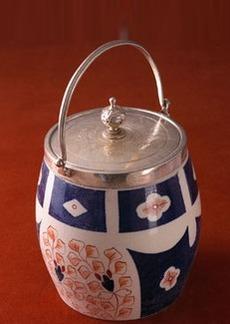 Tadashi Cottage Derby Biscuit Barrel No. 5, c. 1930