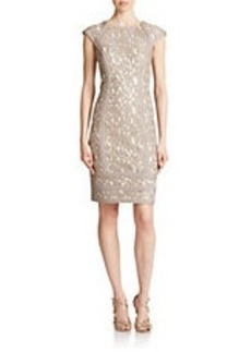 TADASHI SHOJI Banded Lace Sheath Dress