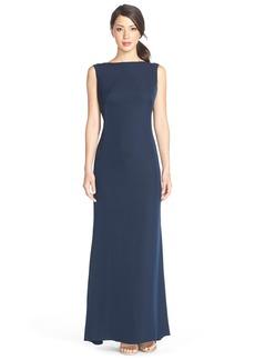Tadashi Shoji Beaded Jersey A-Line Gown