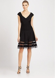 Tadashi Shoji Cap-Sleeve Dress