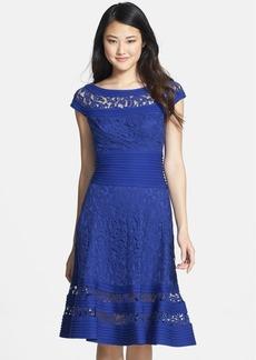 Tadashi Shoji Cap Sleeve Lace Fit & Flare Dress (Regular & Petite)
