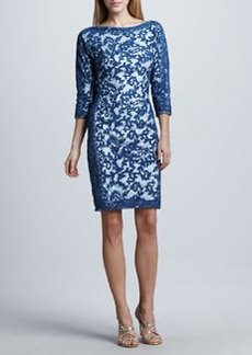 Tadashi Shoji Contour-Panel Lace Cocktail Dress