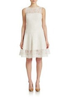 TADASHI SHOJI Corded Lace Fit And Flare Dress
