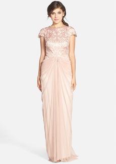 Tadashi Shoji Cutout Bodice & Tulle Skirt Gown