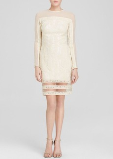 Tadashi Shoji Dress - Illusion Sleeve Lace Shift