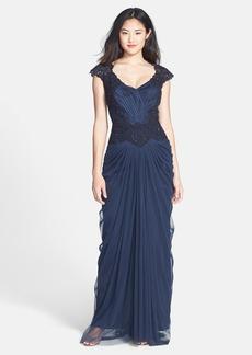 Tadashi Shoji Embellished Lace & Tulle Gown