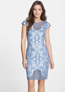 Tadashi Shoji Embroidered Geo Sheath Dress