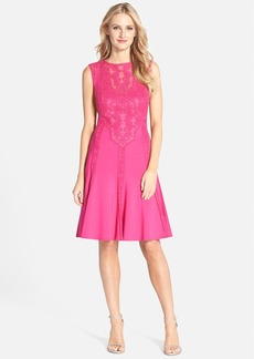 Tadashi Shoji Embroidered Neoprene Fit & Flare Dress (Regular & Petite)