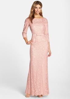 Tadashi Shoji Illusion Lace Gown (Regular & Petite)