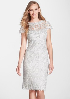 Tadashi Shoji Illusion Yoke Lace Sheath Dress