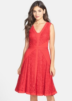 Tadashi Shoji Lace & Jersey Fit & Flare Dress (Regular & Petite)