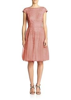 Tadashi Shoji Lace & Tulle Dress