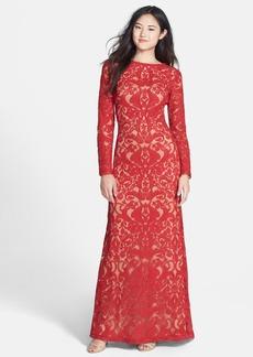 Tadashi Shoji Lace A-Line Gown