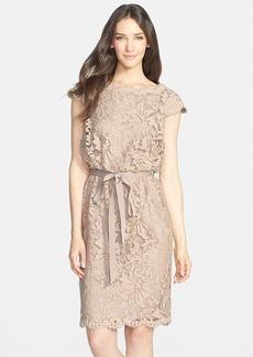 Tadashi Shoji Lace Blouson Dress (Regular & Petite)