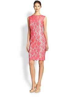 Tadashi Shoji Lace Illusion Sheath Dress