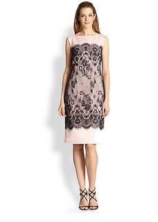 Tadashi Shoji Lace-Overlay Sheath Dress