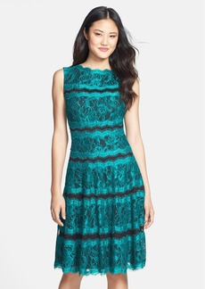 Tadashi Shoji Lace Panel Fit & Flare Dress