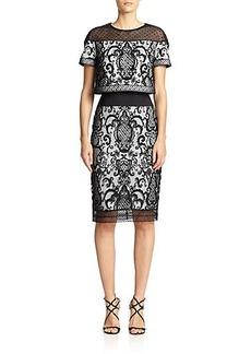 Tadashi Shoji Lace Popover Dress
