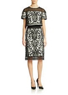 TADASHI SHOJI Lace Popover Sheath Dress