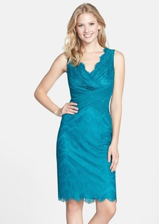 Tadashi Shoji Mixed Media Sheath Dress (Regular & Petite)