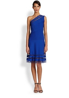 Tadashi Shoji One-Shoulder Cocktail Dress