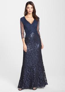 Tadashi Shoji Sequin Lace Gown (Regular & Petite)