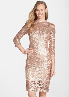 Tadashi Shoji Sequin Mesh Sheath Dress (Regular & Petite)