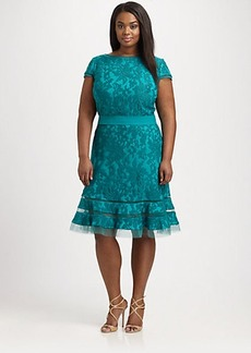 Tadashi Shoji, Sizes 14-24 Embroidered-Overlay Dress