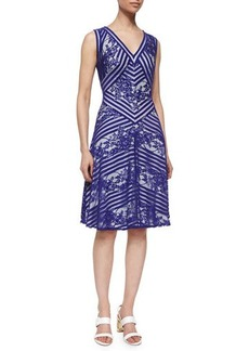 Tadashi Shoji Sleeveless Fit-and-Flare Lace Dress  Sleeveless Fit-and-Flare Lace Dress
