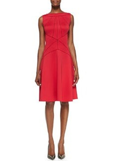 Tadashi Shoji Sleeveless Seamed A-line Cocktail Dress