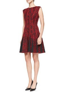 Tadashi Shoji Sleeveless Seamed Cocktail Dress