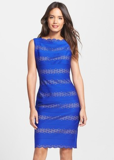 Tadashi Shoji Stretch Knit Sheath Dress