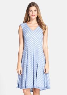 Tadashi Shoji Stripe Jersey Fit & Flare Dress