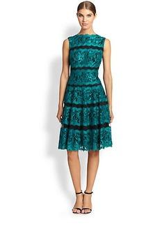 Tadashi Shoji Two-Tone Lace Sheath Dress