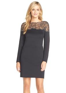 TadashiShojiEmbellished Lace & JerseyA-Line Dress