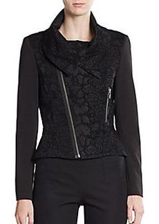 Tahari Angelica Asymmetrical-Zip Jacket